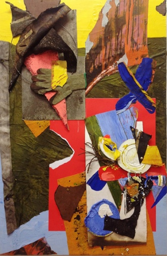 '7 Tons of Twilight' 2014. 150cmX100cm. Mixed media collage.