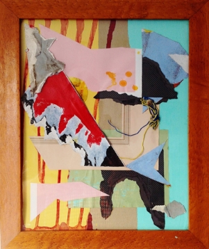 'Pirate'. 2013. 42cmX32cm. Mixed media in found frame.