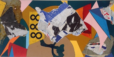 'Relapsed Fugue'. 2014. 30.5cmX60.5cm. Mixed media collage.