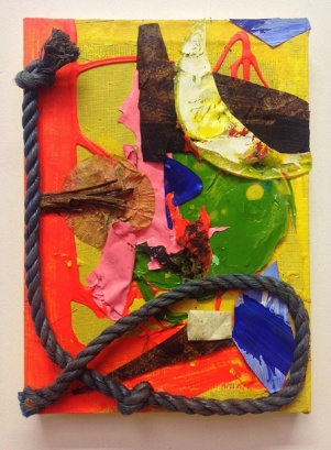 'Rope Burn (1). 2014. 36cmX26. Mixed media collage.