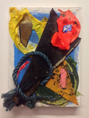 'Rope Burn (3)'. 2014. 36cmX26cm. Mixed media collage.