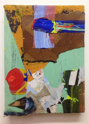 'Rope Burn (5). 2014. 36cmX26cm. Mixed media collage.