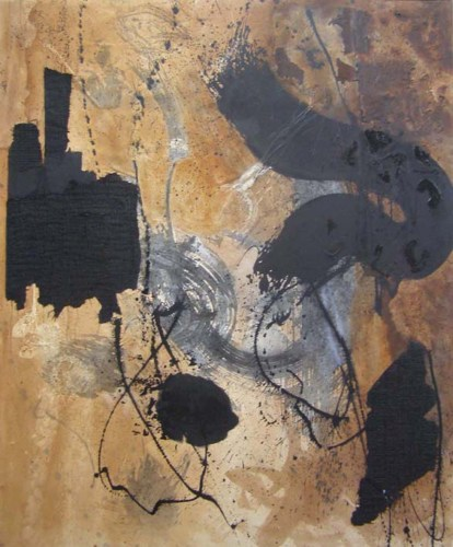 Untitled-3 acrylic ink and mixed media on canvas, 6ft x 5ft