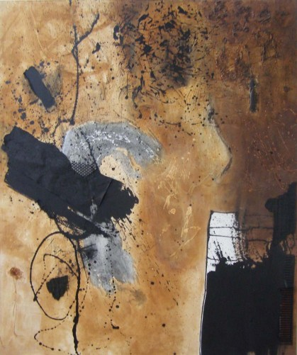 Untitled-4 acrylic ink and mixed media on canvas, 6ft x 5ft