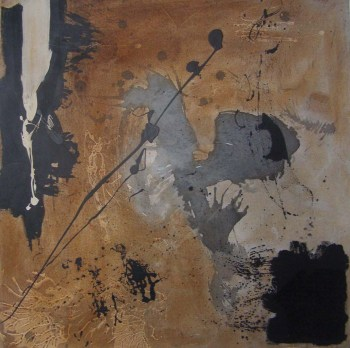 Untitled-6 acrylic ink and mixed media on canvas, 2ft sq