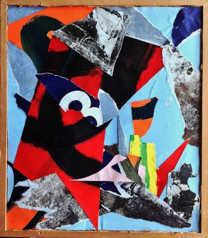 Starling. 2015. 54.5cmX37cm. Mixed media collage.