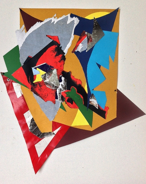 Stingray. 2015. MIxed media shaped collage. 103cmX91cm.
