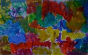 Sarah's Tears, 2016, oil on canvas, 76x122cm.