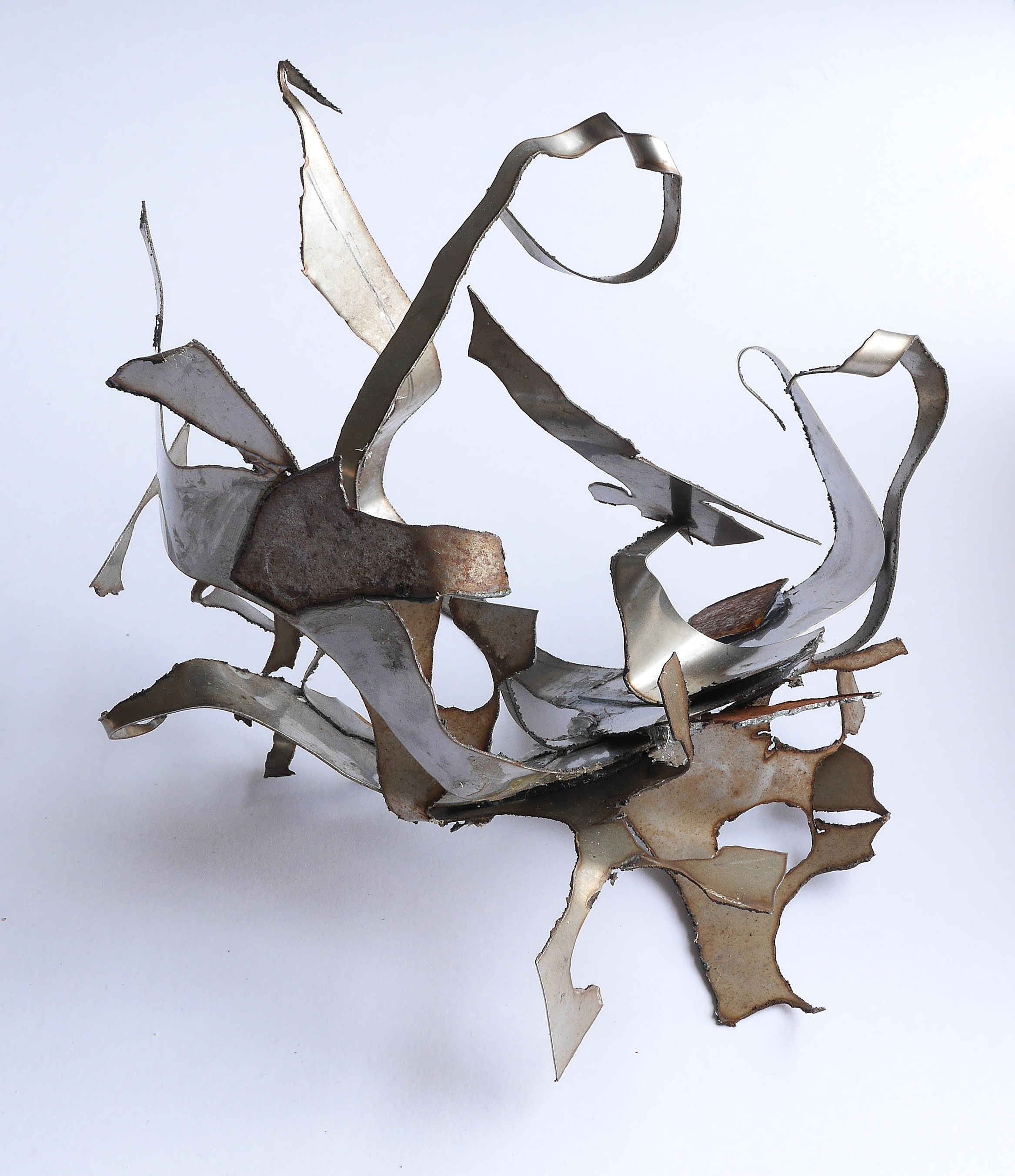 Construction No 2 (view 3 H20cm mild steel)